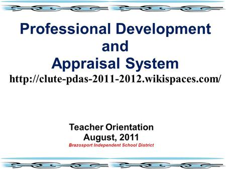 Professional Development And Appraisal System Ppt Video