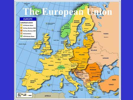 The European Union. After the Second world the whole Europe was destroyed. Europeans were determined to prevent such killing and destruction ever happening.