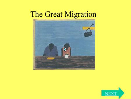 The Great Migration NEXT. Introduction This is an interactive presentation dealing with the Great Migration that occurred in American history in the early.