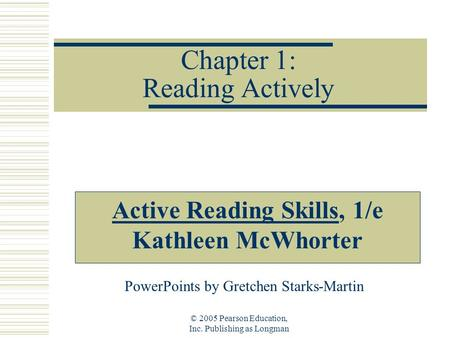 Chapter 1: Reading Actively