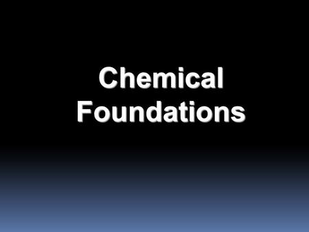 Chemical Foundations. Steps in a Scientific Method (depends on particular problem) 1. Observations -quantitative - qualitative 2.Formulating hypotheses.