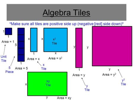 Make Sure All Tiles Are Positive Side Up Negative Red Down