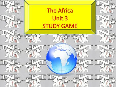 The Africa Unit 3 STUDY GAME New machinery and tools are examples of __________ resources Capital.