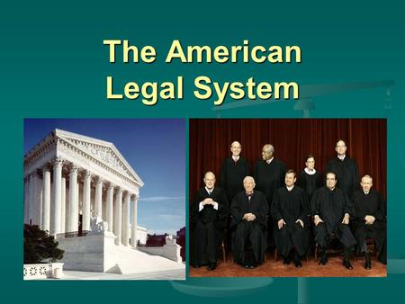 The American Legal System
