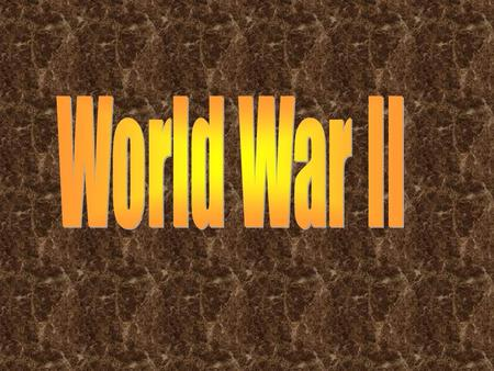 World war 2 was most of the worlds countries in two different forces named the allies and the axis.