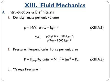 Chapter 12 Fluid Mechanics  - ppt download