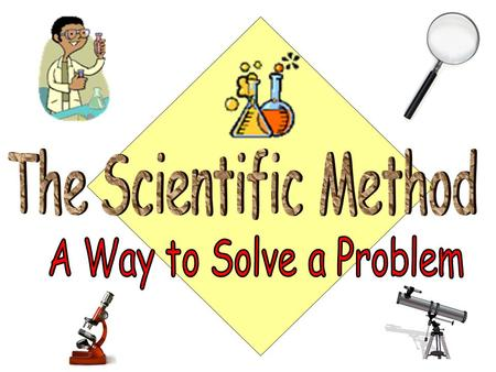 The Scientific Method A Way to Solve a Problem.