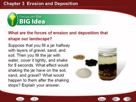 What are the forces of erosion and deposition that