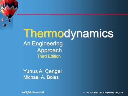 thermodynamics an engineering approach yunus a engel