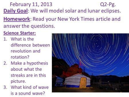 Solar and Lunar Eclipses - ppt download