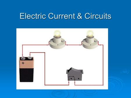 Electric Current & Circuits. What is the difference between static electricity and current electricity ? Static electricity is stationary or collects.
