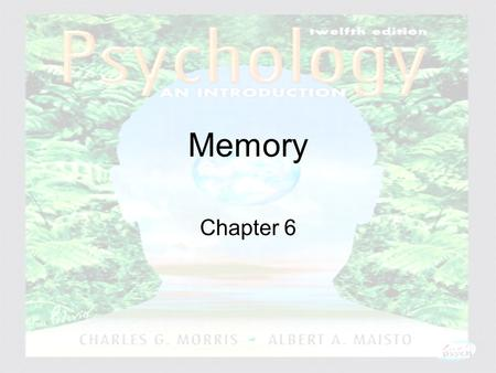Psychology: An Introduction Charles A. Morris & Albert A. Maisto © 2005 Prentice Hall Memory Chapter 6.