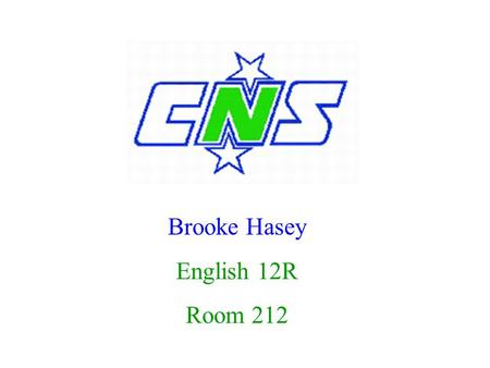 Brooke Hasey English 12R Room 212. Course Objectives Promote pride in taking individual responsibility Become effective writers Read proficiently Leave.