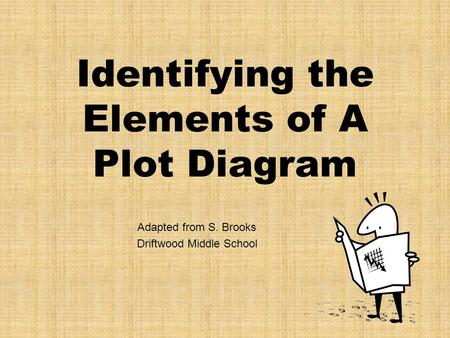 Identifying the Elements of A Plot Diagram Adapted from S. Brooks Driftwood Middle School.