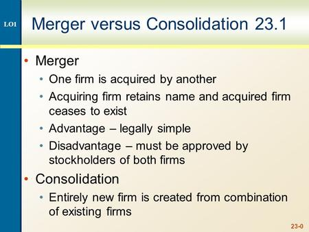 Merger vs acquisition vs consolidating debt