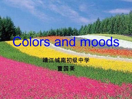 Colors and moods 靖江城南初级中学 曹国美.