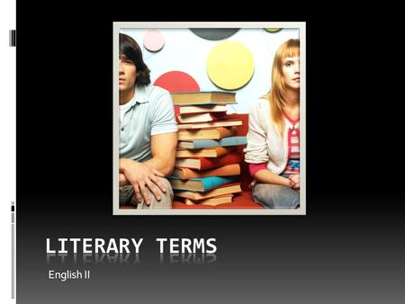 English II. I. A short story is a brief work of fiction.