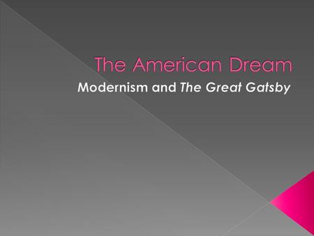 modernism in the great gatsby