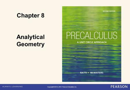 Chapter 8 Analytical Geometry