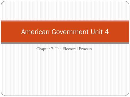 American Government Unit 4