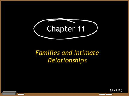 ( 1 of 14 ) Chapter 11 Families and Intimate Relationships.