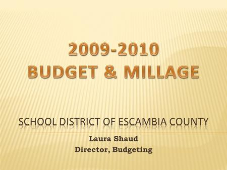 Laura Shaud Director, Budgeting. It is the millage rate that would generate the same ad valorem tax revenue as was levied in the prior year when applied.