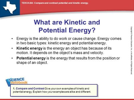 how are kinetic and potential energy different