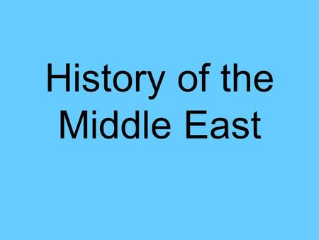History of the Middle East. Ottoman Empire At one time the Muslim Ottoman Empire was six times the size of Texas. It stretched across what is now Turkey.