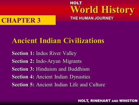 Ancient Indian Civilizations