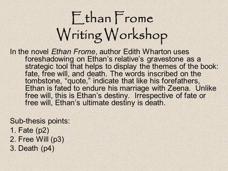 ethan frome critical analysis