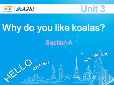 Why do you like koalas? Unit 3 Section A Do you know these animals?