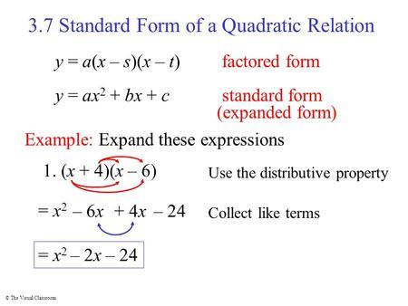 expanded form to factored form  MAT 1111 Unit 1111-1111 Part 11: Quadratic Models - ppt download