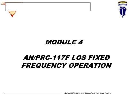 CHARACTERISTICS OF THE AN/PRC-117F OR R/T ppt download