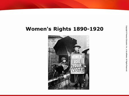 TEKS 8C: Calculate percent composition and empirical and molecular formulas. Women's Rights 1890-1920.