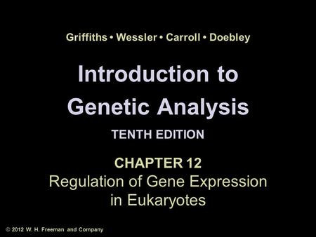 Introduction To genetic analysis 10th Edition Solutions