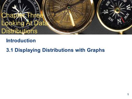 1 Chapter 3 Looking at Data: Distributions Introduction 3.1 Displaying Distributions with Graphs Chapter Three Looking At Data: Distributions.