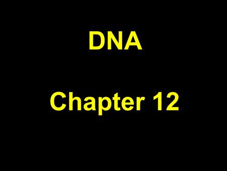 DNA Chapter 12. DNA DeoxyriboNucleic Acid Sugar = deoxyribose Adenine + Thymine Guanine + Cytosine Double-stranded helix with alternating sugars and phosphate.