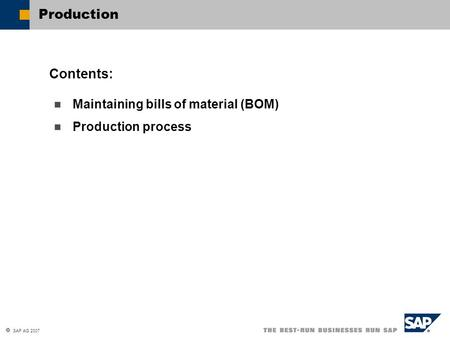 MRP: Material Resource Planning