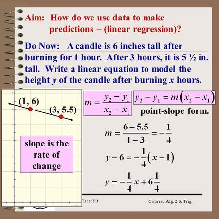 Line of Best Fit Linear Regression  - ppt video online download