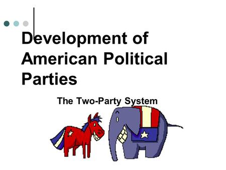 Development of American Political Parties