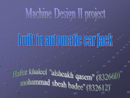 Design and Fabrication of Power Scissor Jack  Introduction  Jack