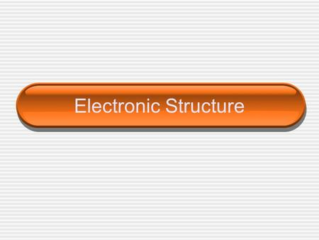 Electronic Structure. Bohr Bohr proposed that the __________ atom has only certain allowable energy states.