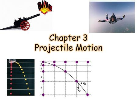 Projectile Motion Previously, we studied motion in one direction (linear motion) Projectiles follow a curved path (nonlinear motion) The velocity of a.