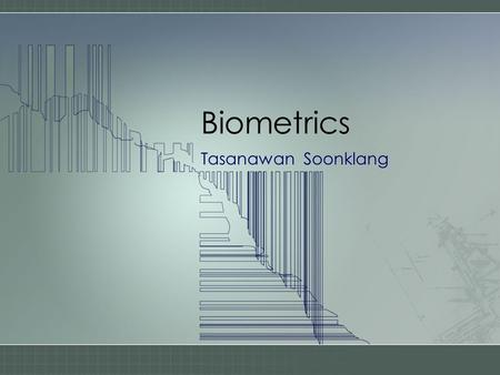 Introduction to Biometric Systems - ppt download
