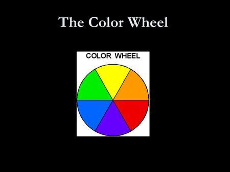 The Color Wheel. THE COLOR WHEEL REDORANGEYELLOWGREENBLUEVIOLET.