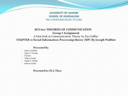 social information processing theory walther