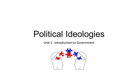 Political Ideologies Unit 1: Introduction to Government.