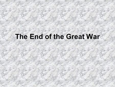 The End of the Great War. Germany Signs Armistace 11 am Assured that 14 Points are Basis for Peace.
