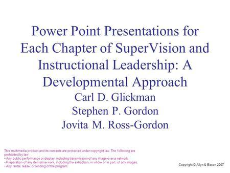 Chapter 6 Supervisory Behavior Continuum Ppt Video Online Download