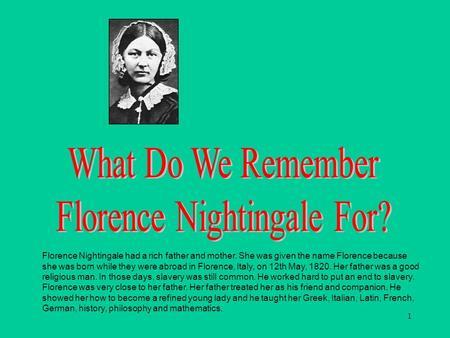 florence nightingale birthplace